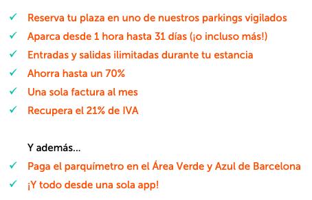Ventajas de reservar parking con Parclick